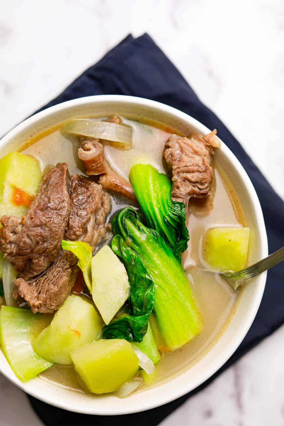 Beef Ribs Sinigang With Lemon Juice Seaside Recipes Beef Sinigang