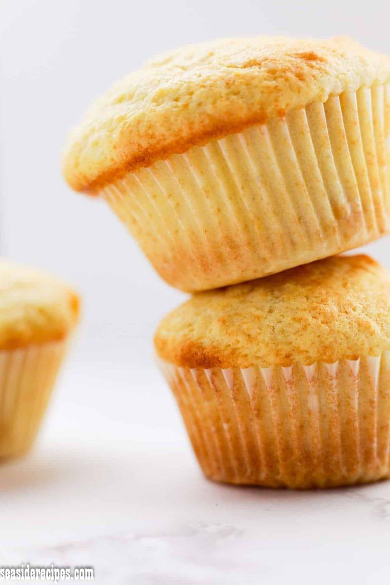 mango muffins on a pile