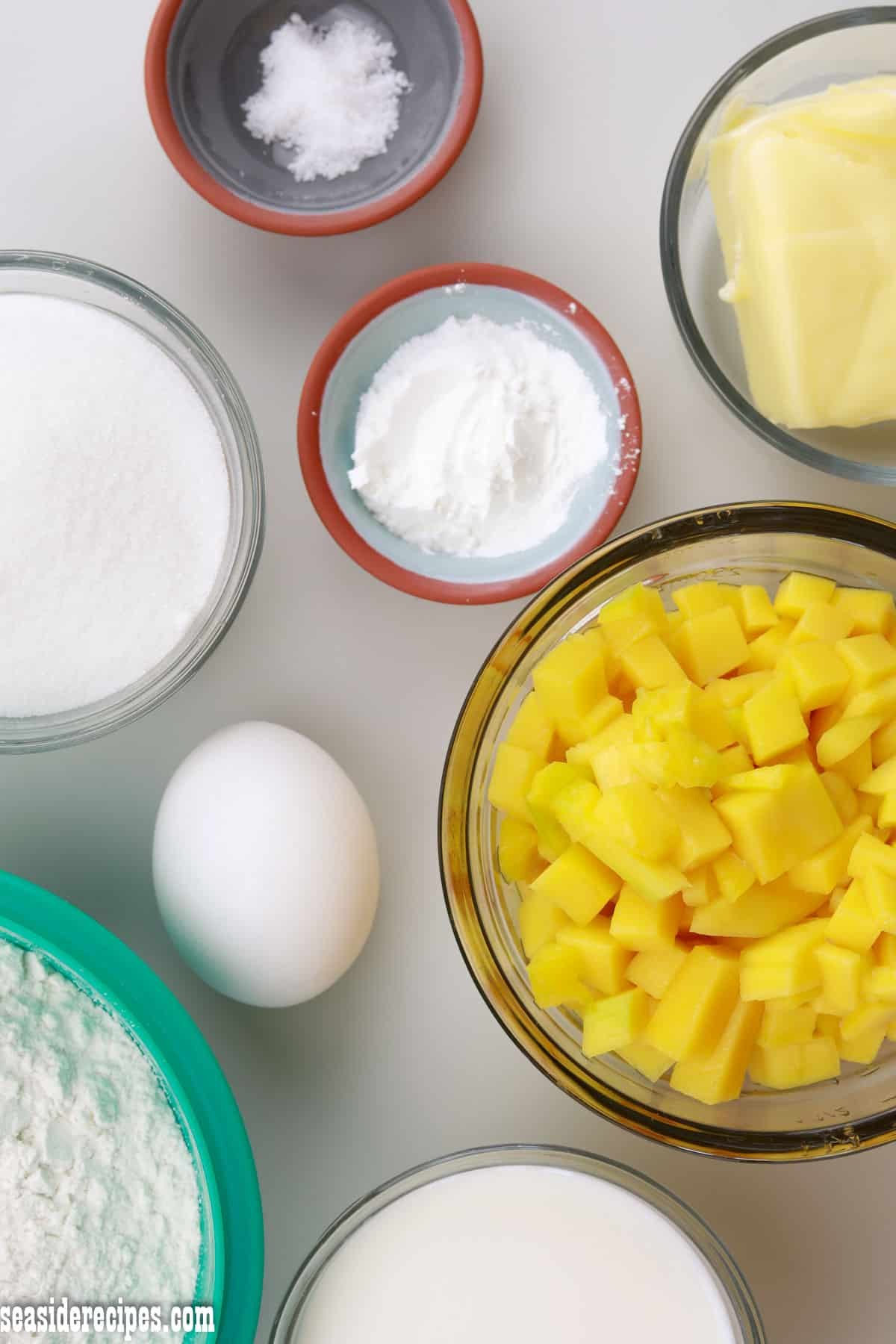 ingredients for mango muffins