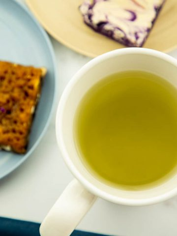 Homemade Ginger Tea on a white cup