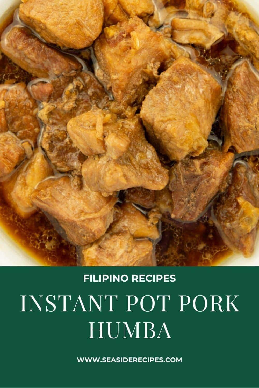 Instant Pot Pork Humba