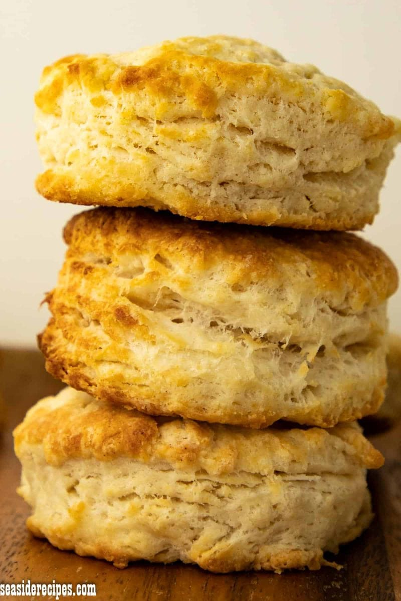 Homemade Biscuits on a Pile