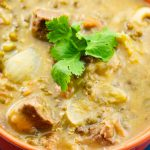 Mung Bean Soup with Beef in Orange Bowl